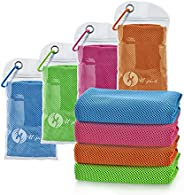 """U-pick 4 Packs Cooling Towel (40""""x 12""""),Ice Towel,Microfiber Towel,Soft Breathable Chilly Towel for"""