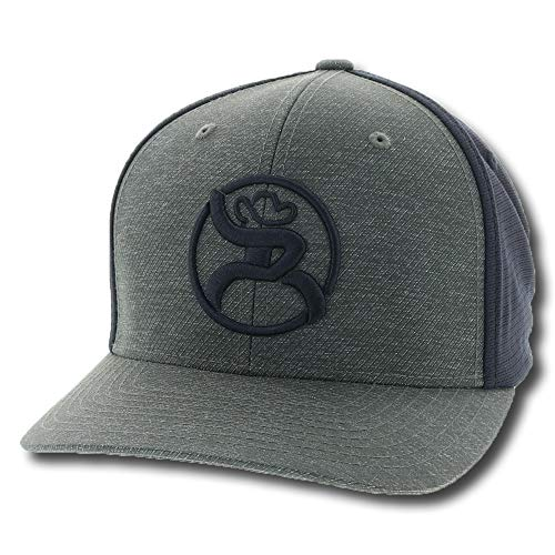 HOOey Men's Roughy 2.0 Ball Cap Black L/XL