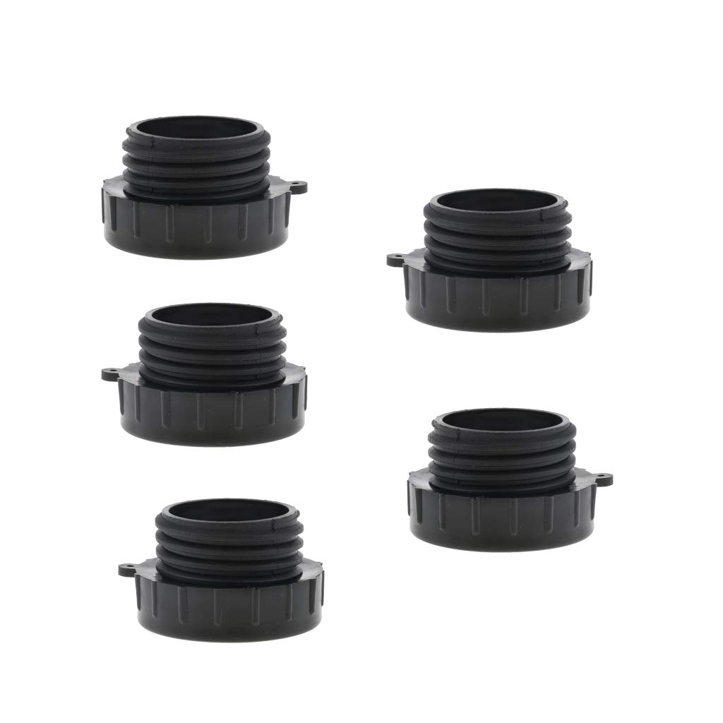 for Hoses Pipe Durable 5 Pcs 2 inch IBC Tote Tank Valve Adapter Connector Fine to Coarse Thread