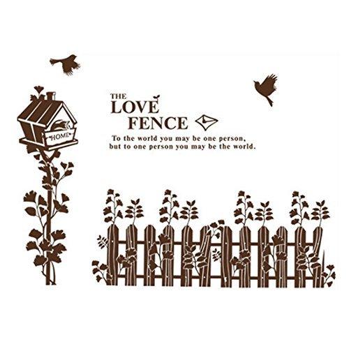 Chambre Accent Brown auto-adhésif Maison Clôture Wall Sticker 60x90cm
