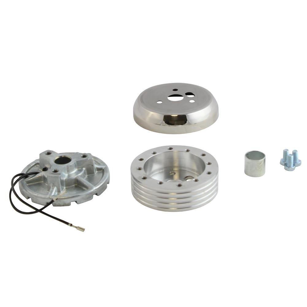 6 Hole Polished Hub Adapter Installation Kit B02 for Aftermarket Steering Wheels