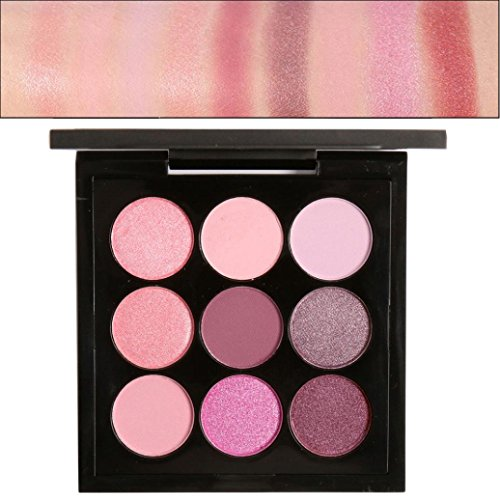 Misaky Classy Intensity Single Baked Shimmer Retro 9 Colors Smoky Eye Shadow Makeup Makeup Kit Pigment Palette (#D) Retro Roller Ball