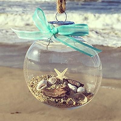 Beach Ornament, Christmas Ornament, Ocean Beach Christmas Ornament
