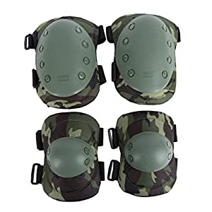 Tactical Military Paintball Skate Elbow Knee Pads Cycling Airsoft Combat Protective Set