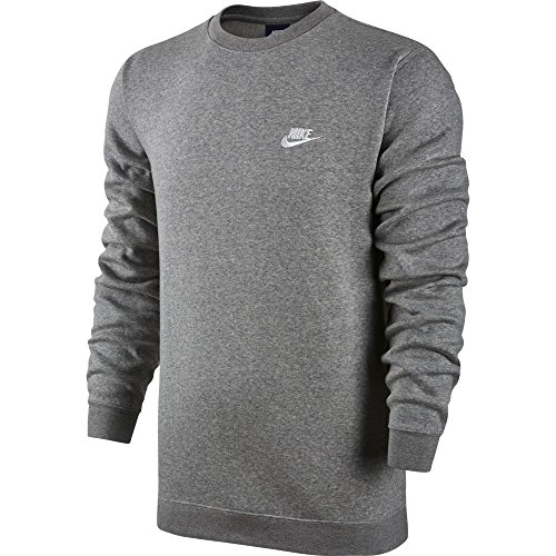 Nike Nsw Crw Heather Grey white Dk Uomo Club Felpa Bb M tTrwT