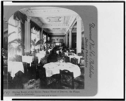 Photo: Dining Room of the Brown Palace Hotel of Denver,the finest hotel in Colorado ()