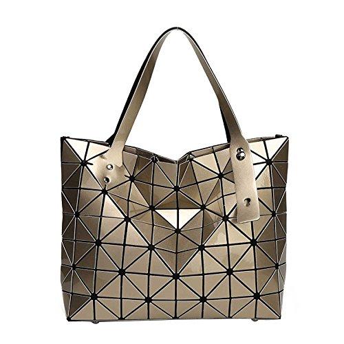 Géométrie Sac Main Bag Coréenne Pliant à Variété Main Gold Lingge Bandoulière à Sac à Sacs Crossover CY qwzWdtXX