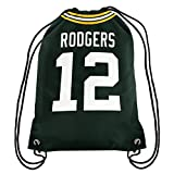 FOCO NFL Green Bay Packers Aaron Rodgers #12 Double Sided Drawstring Backpack