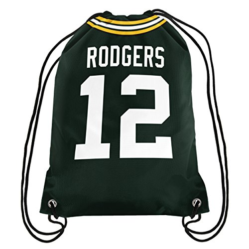 FOCO NFL Green Bay Packers Aaron Rodgers #12 Double Sided Drawstring Backpack (Nba Jersey Backpack)