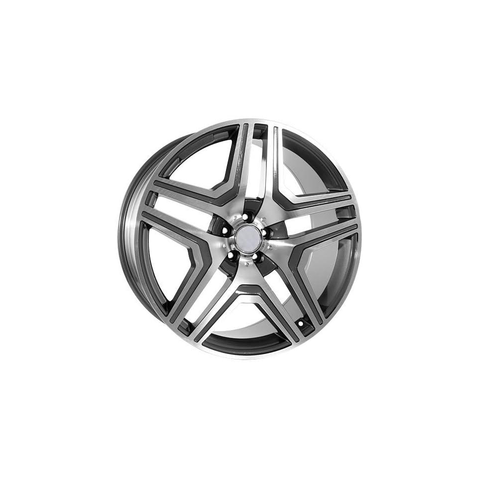 22 Replica ML63 Gunmetal Machined Mercedes Style Wheels Hollander 85114