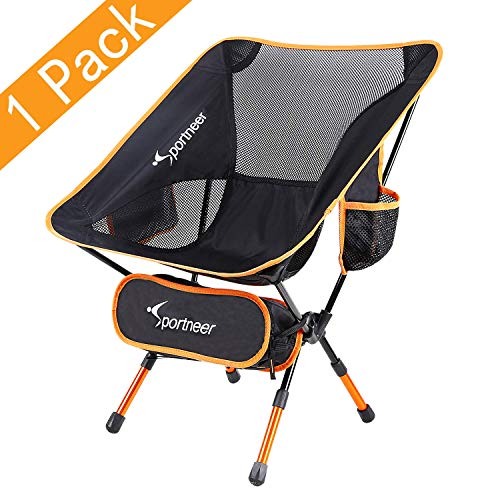 Sportneer Camping stoel, draagbare lichtgewicht opvouwbare stoel voor backpacken, wandelen, picknicken, vissen en…