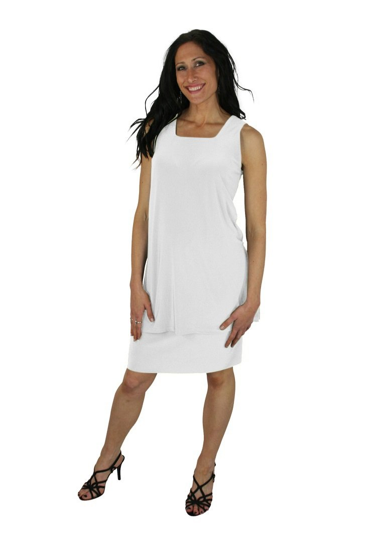 Sympli Women's Tube Skirt Short-White (8-Short, White)