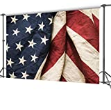 DULUDA 9X6FT US Flag Style National day Seamless Vinyl Photography Backdrop Pictorial cloth Customized photography Backdrop Background studio prop UA26