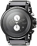 Vestal Plexi Acetate Japanese-Quartz Watch with Stainless-Steel Strap, Black, 23 (Model: PLA025)