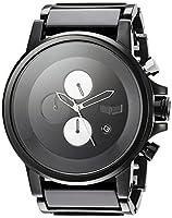 Vestal ' Plexi Acetate' Quartz Stainless Steel Dress Watch, Color:Black (Model: PLA025