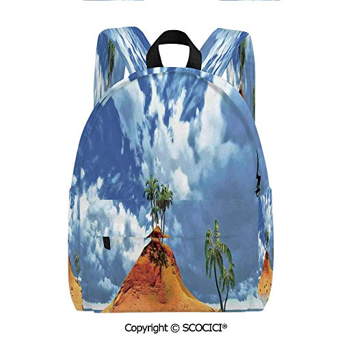 - SCOCICI Cute Printed Leisure Backpack Student Bookbag(11.5