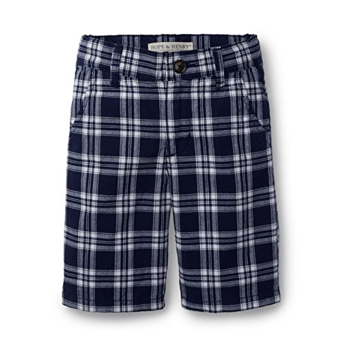 Hope & Henry Boys Blue and White Plaid -