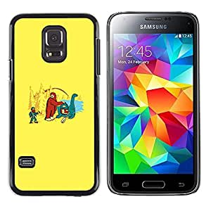 CASEX Cases / Samsung Galaxy S5 Mini, SM-G800, NOT S5 REGULAR! / Bigfoot & Loch Ness - Funny # / Delgado Negro Plástico caso cubierta Shell Armor Funda Case Cover Slim Armor Defender