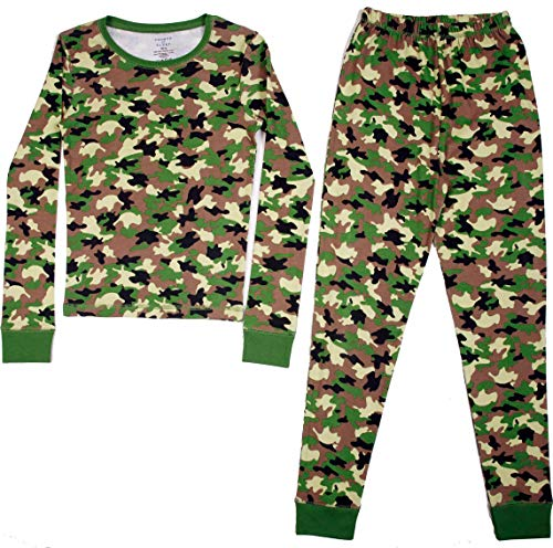Cotton Camouflage Pajamas - Prince of Sleep Cotton Pajamas for Boys 34504-10271-5-6 Green - Camouflage