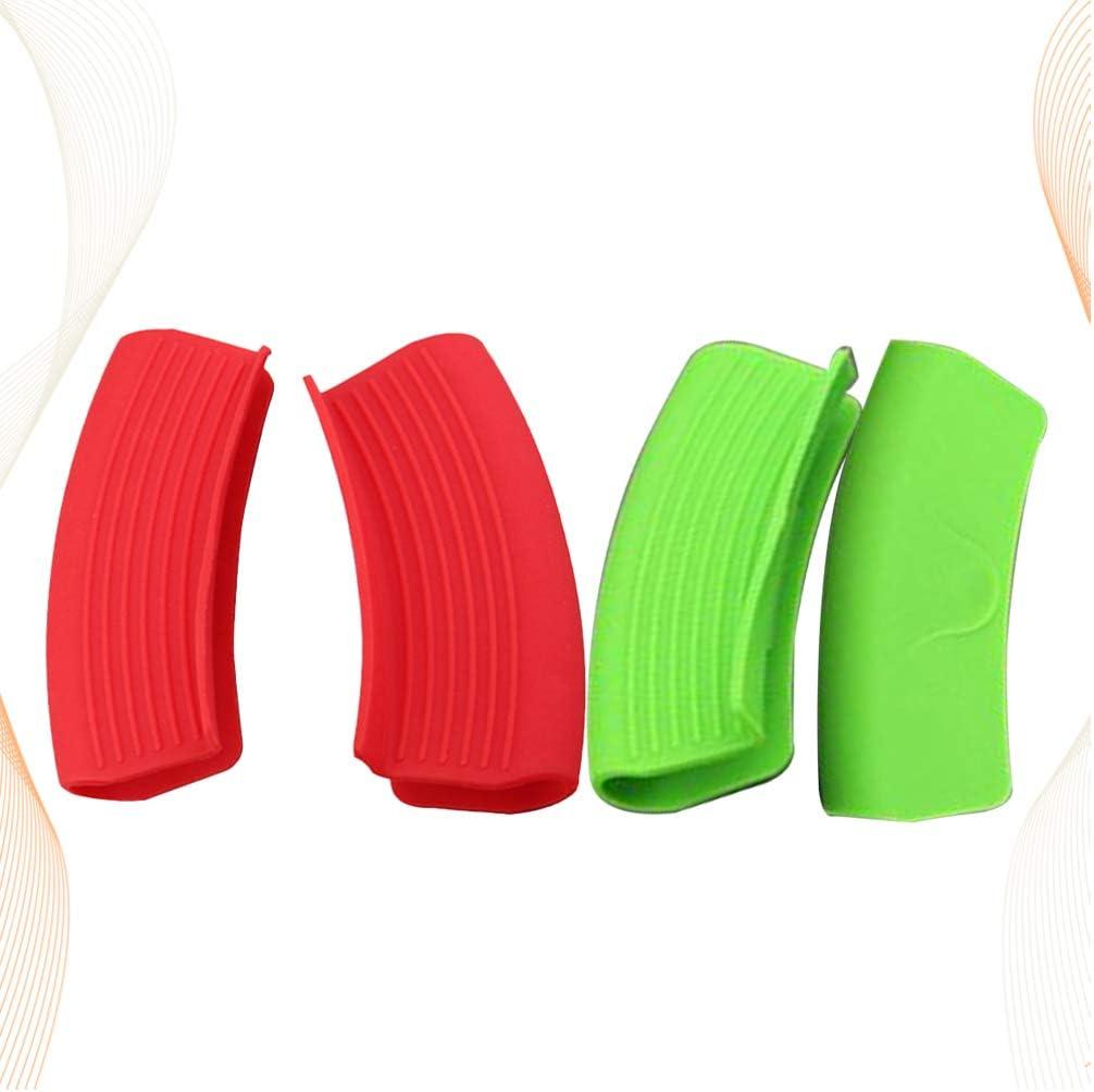TOPBATHY 4-Teilige Quetschhandschuhe aus Silikon f/ür Woks-T/öpfe aus Gusseisen.