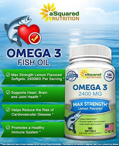 Pure omega 3 fish oil supplement 180 softgels lemon for Fish oil joints