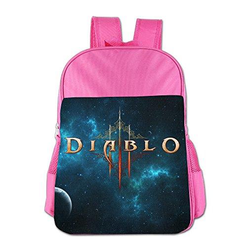 [STALISHING Kid's ARPG Diablo 3 Fathom Studios Logo School Bag Backpack] (Diablo Reaper Of Souls Costume)