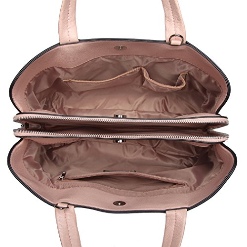 Handbags Shoulder Bag Magnetic Multi Lulu Handle Miss compartment Crossbody Pink Zipper Women Top Quality Closure With qpwgqxOz4