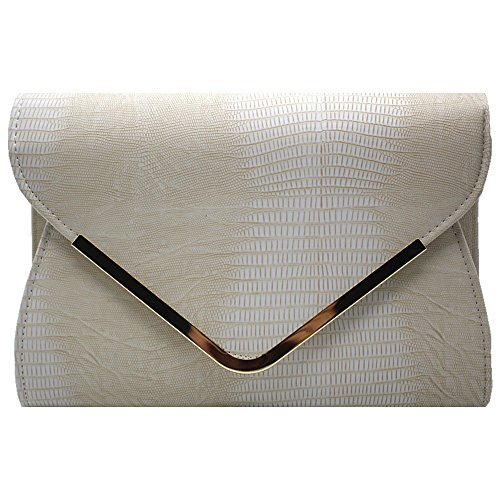 Messenger Party Women Club Rose Embossed Ivory Red Crossbody Evening Handbag Pattern Wiwsi Bag wOxqIpfR