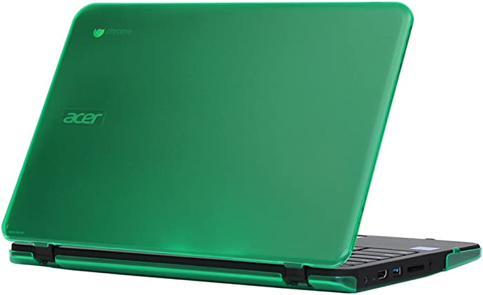 """iPearl mCover Hard Shell Case for 11.6"""" Acer Chromebook 11 C731 Series Laptop (NOT Compatible with Older Acer 11 C720 / C730 / C740 / CB3-111 / CB3-131 Series Laptop) - C731 Green"""