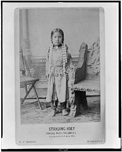 Photo: Standing Holy,Sitting Bull's Daughter,c1885,Indians of North America,Child