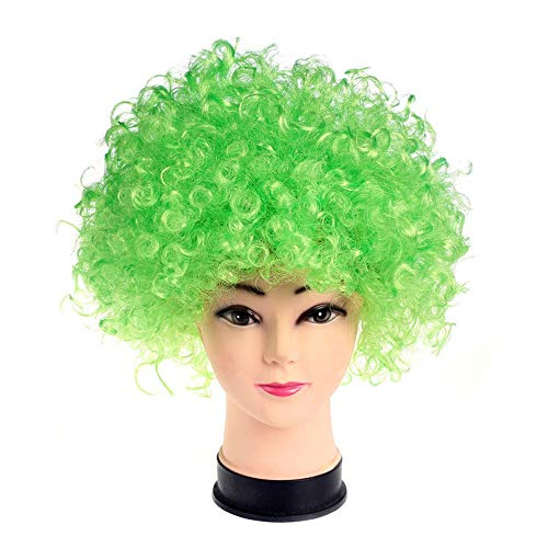 (R STAR Funny Clown Curly Afro Wigs(Green))