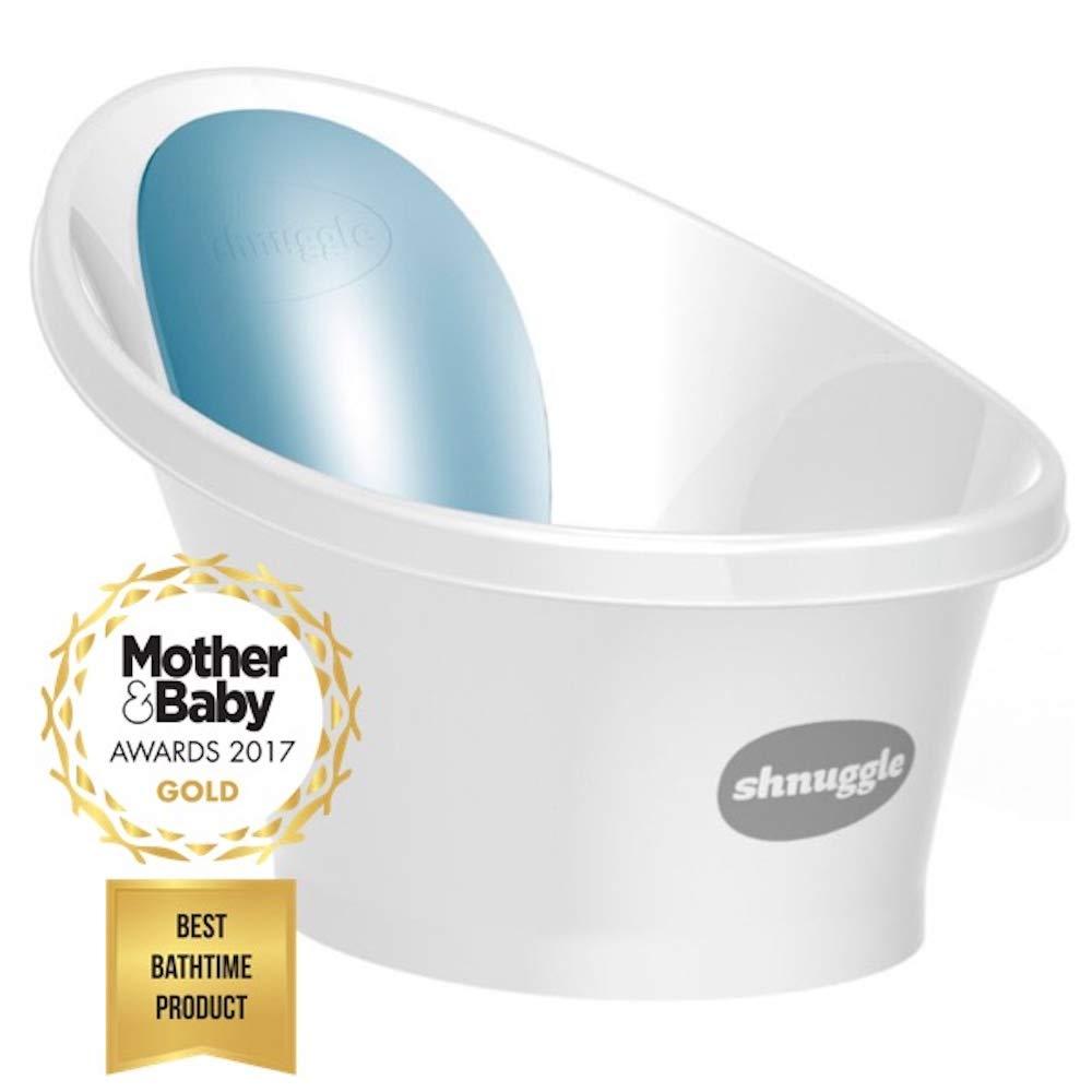 Shnuggle Baignoire pour enfant avec un dossier en mousse bleue product image