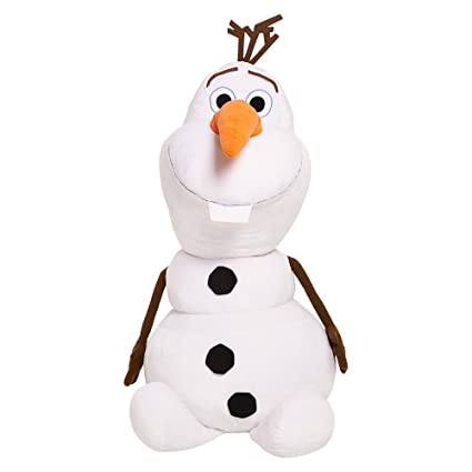 caed67f21d9 Image Unavailable. Image not available for. Color  Disney Frozen Olaf Super  Jumbo Plush ...