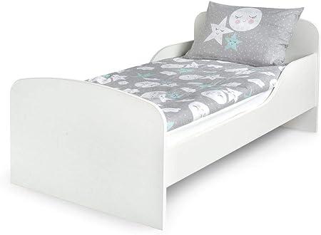 Cama infantil con colchón. color blanco. NO INCLUYE LAS SABANAS DE LAS FOTOS,El paquete contiene un