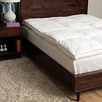 Amazoncom Feather Bed Mattress Topper Queen Hypoallergenic Gusset