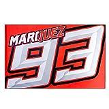 Marc Marquez 93 Moto GP Logo Flag Red Official 2018
