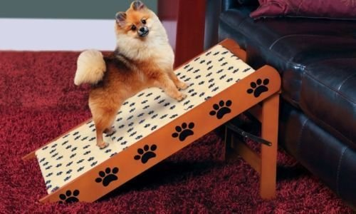 NEW Convertible Pet Steps/Ramp Dog Cat Portable Folding Couch Bed Stairs Wood