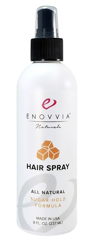 Enovvia Natural Hairspray, Non-Aerosol, Unscented, Best Natural Sugar Hair Spray For Styling Hold, 8 Ounces