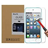 iPod Touch 5 Screen Protector, ShuYO(TM) Tempered Glass , 2.5D Round Edge/99% Clarity/0.3mm/9H Hardness/Shatter-Proof/Bubble Free, Glass Screen Protector for iPod Touch 5 - Lifetime Warranty