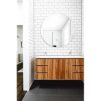 Amazon Com 4x10 White Glossy Finish Beveled Ceramic Subway Tile Shower Walls Backsplashes 1