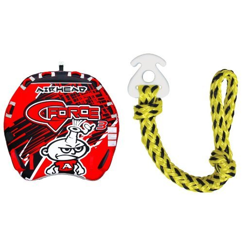 AIRHEAD AHGF-3 G-Force Inflatable Towable and AIRHEAD AHKC-1 KWIK-CONNECT Tube Rope Connector Bundle