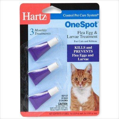 032700019150 - Hartz UltraGuard Onespot Flea & Tick Drops for Cats - 3 Monthly Treatments carousel main 0