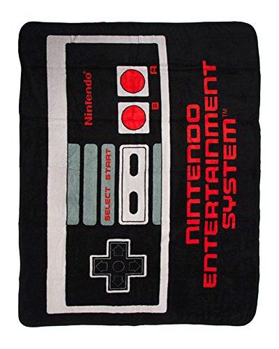"Bioworld Nintendo Controller Plush Throw Blanket 48"" x 60"""