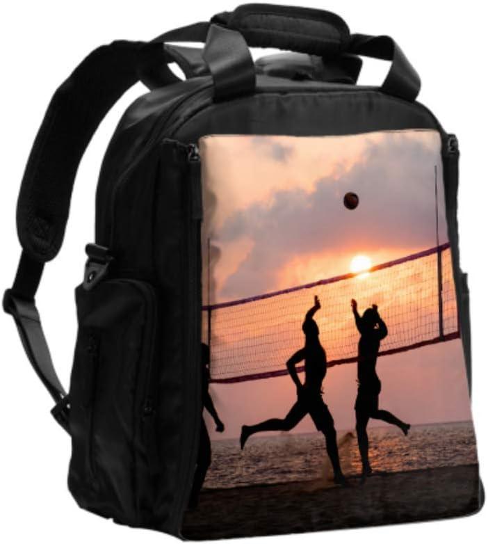 Bolsa de pañales/cambiadores Bolsas de pañales para jugadores de voleibol de playa para mamá Mochila de viaje multifunción con almohadilla para cambiar pañales para el cuidado del bebé