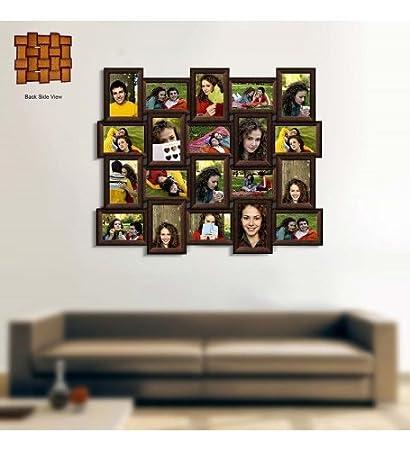 Buy Snapgalaxy Twenty Photo Collage Frame, Brown, Landscape Online ...