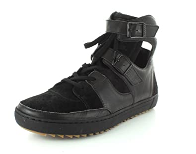 04907d82a10235 Birkenstock Women s Thessaloniki Black Leather Suede Sneaker 37 (US Women s  6-6.5) Regular
