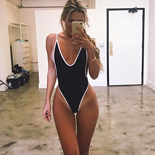 5e7a11cfef960 KIWI RATA Sexy Womens Monokini Deep V One Piece Backless ...
