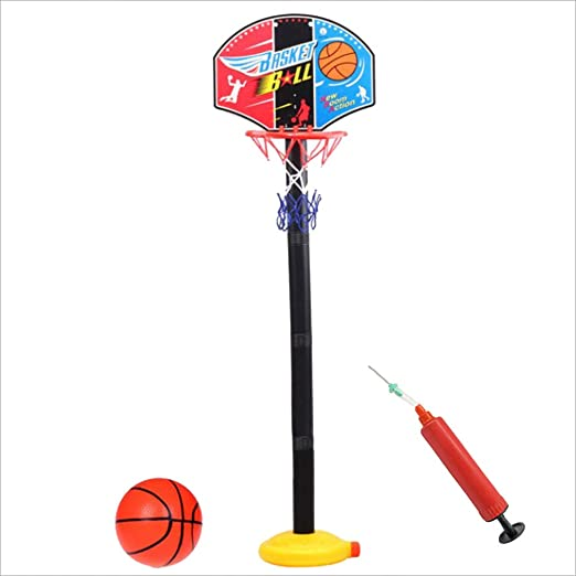 Toyvian 1.35 M niños Baloncesto Set Bastidor Soporte de plástico ...