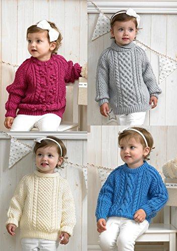Stylecraft Special Aran Sweaters Knitting Pattern 4175 Amazon Co Uk