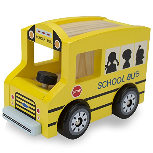 Wooden Wheels Natural Beech Wood School Bus by Imagination Generation